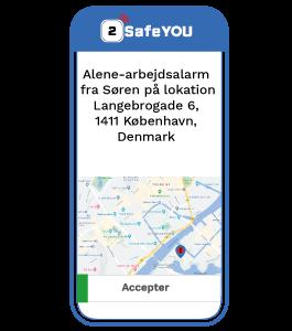Kollega eller sikkerhedsvagt modtager din alarm